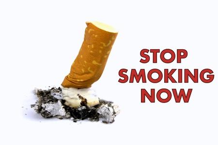 perseverar: dejar de fumar Foto de archivo