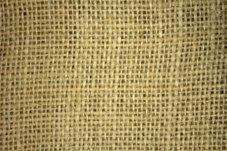 Flax burlap texture background photo
