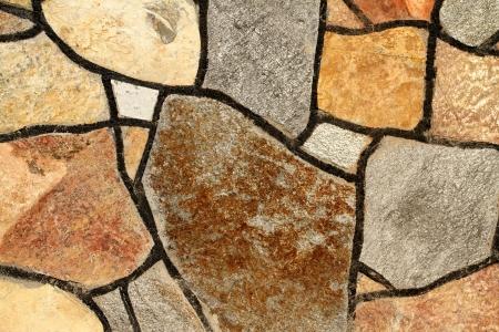 rockwall: Colorful stonewall