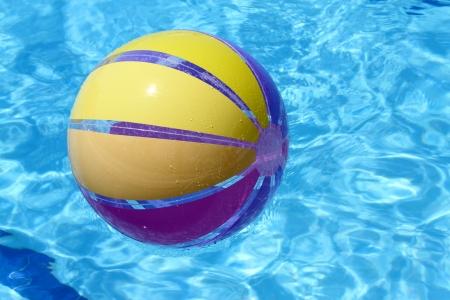 swimmingpool: Beachball and swimmingpool. vacation Stock Photo