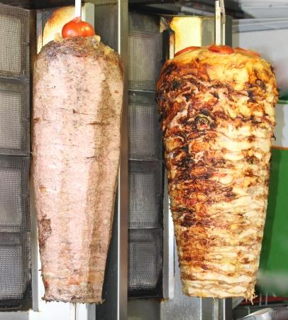 chicken kebab: Turkish doner kebab. Beef and chicken.
