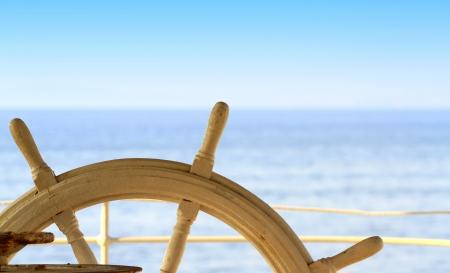 Gouvernail pour navires et la mer Banque d'images - 15109001