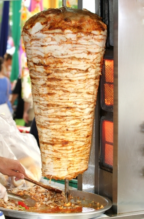 Turkish chicken doner kebab photo