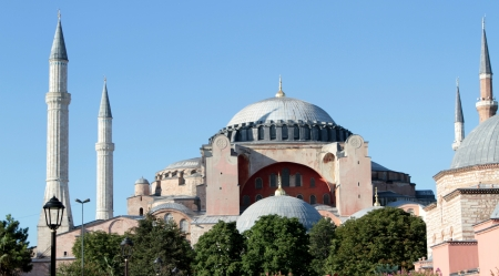 Famous Hagia Sophia mosque ( istanbul, Turkiye ). outdoor photo