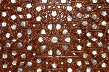ottoman empire: Turkish art of ornament wood. Handmade mother of pearl art. Sedef art.