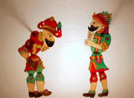 Ttraditional Turkish Ottomans street theater Hacivat and Karagoz