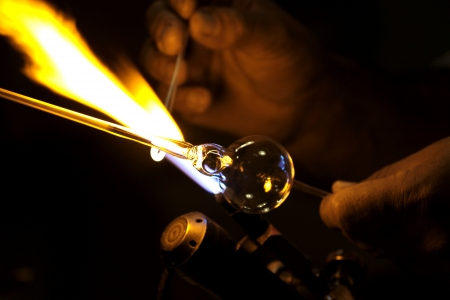 craftsperson: Glass blower. Stock Photo