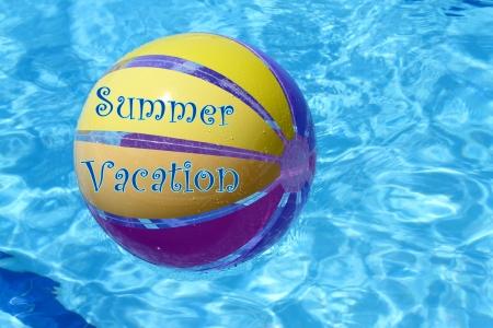 beachball: Beachball and swimmingpool  vacations Stock Photo