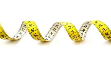 cinta metrica: Cinta m�trica en el fondo blanco