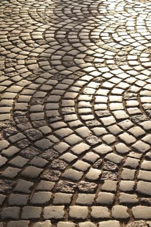 road paving: Road adoquines Foto de archivo
