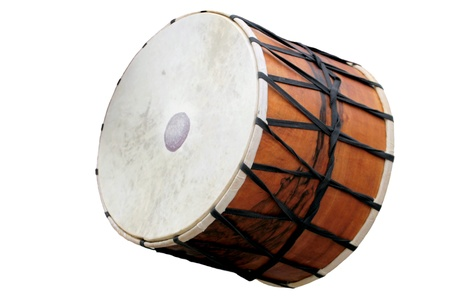 Turkish drum isolated on white background  photo