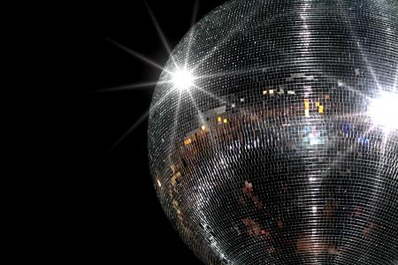 discoball: Disco ball on blackbackground Stock Photo