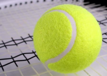 wimbledon: Tennis ball on racket