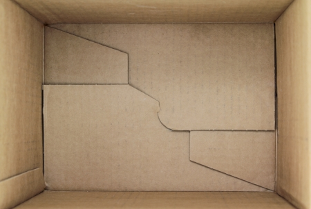 Empty cardboard box, 3d view