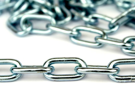durable: Chain on white background