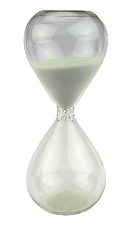 White hourglass Stock Photo - 16812143