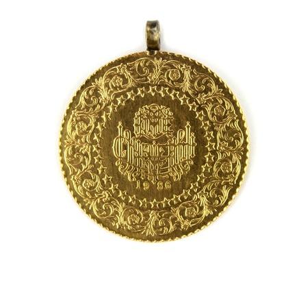 old quarter: Turkish gold coin