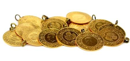old quarter: Gold coins