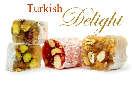 Turkish delight and sample text  photo
