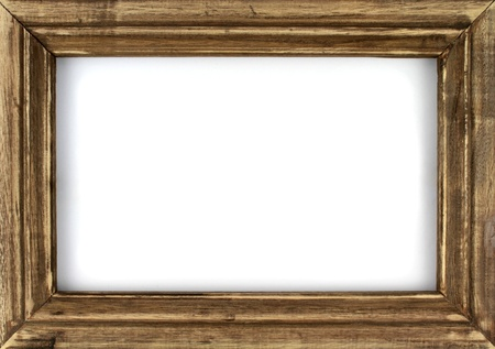 Old picture frame isolated on white background Stock Photo - 17201245