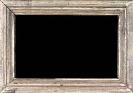 Old picture frame isolated on black background Stock Photo - 17201231