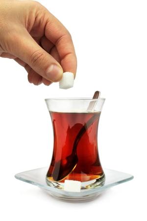 turk: Turkish tea with traditional tea glass