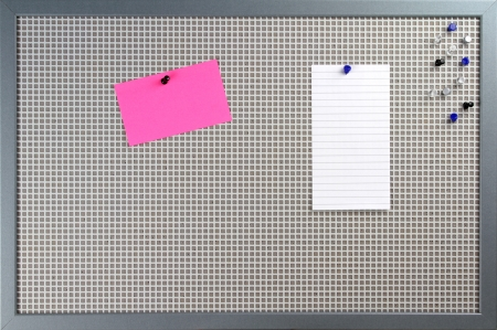 note board: Notice board with note papers