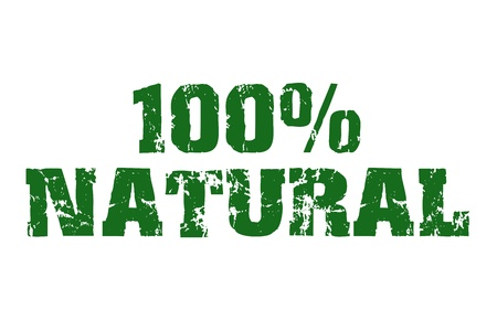 environmentalist tag: Natural  text with old look Stock Photo