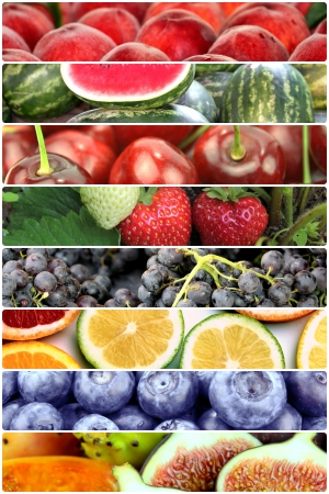 fresh fruits: Fruit banners  Stock Photo