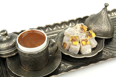 Delicious Turkish desserts   photo