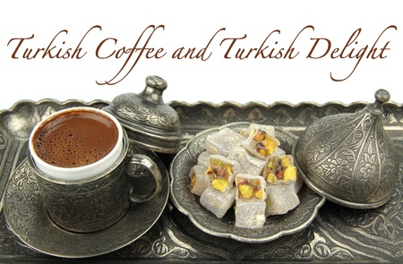 turkish delight: Delicious Turkish desserts and turkish coffee