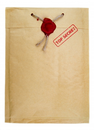 secret information: Top secter mail with rope and wax seal