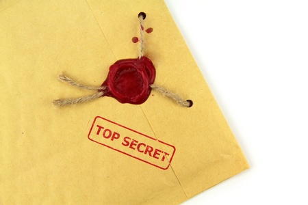 secret information: Top secret mail close up image