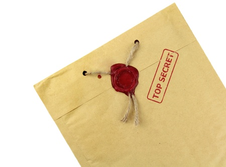 Top secret mail with wax seal photo