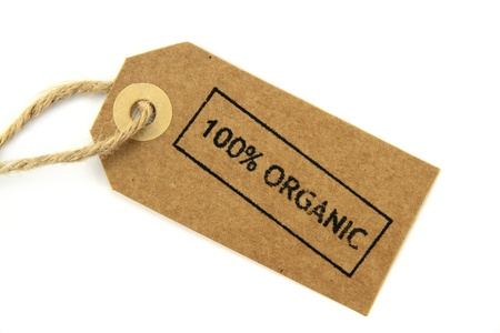 environmentalist label: 100  Organic stamped label