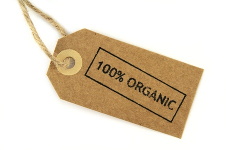100  Organic stamped label photo