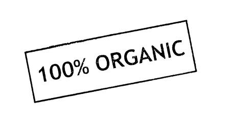 environmentalist tag:   100  Organic   Rubber stamp print