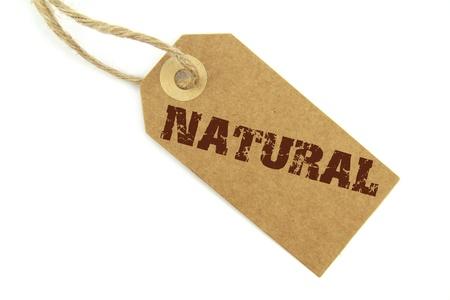 environmentalist tag:  Natural label