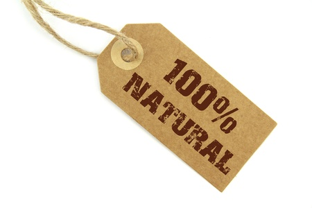 environmentalist label:  100  Natural label