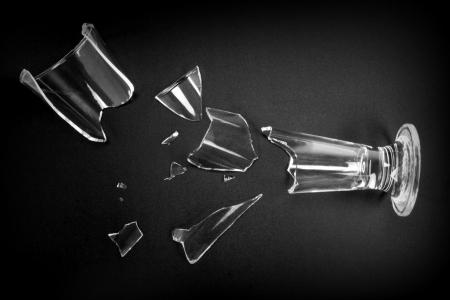broken glass: Broken glass