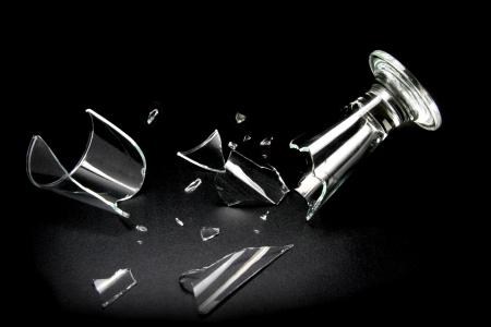 breakin: Breakin drink glass Stock Photo
