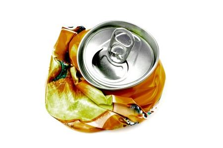 crushed aluminum cans: Bebida machacada Foto de archivo