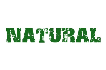environmentalist label:   Natural   stamp text Stock Photo