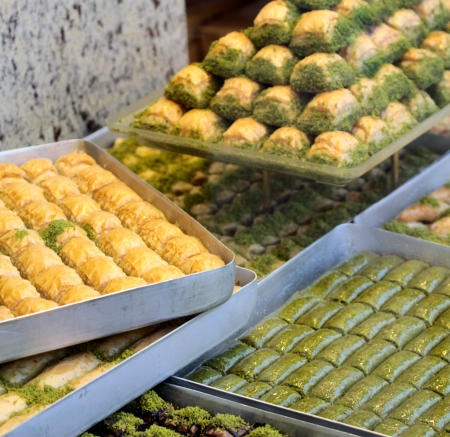 Delicious Turkish baklava  photo