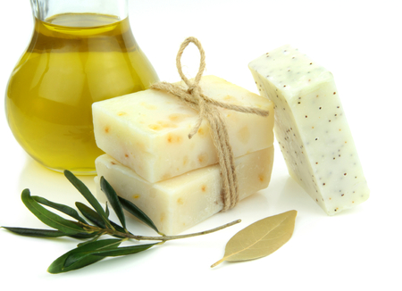 natural soap: Natural soap with olive oil, daphne and poppy seeds