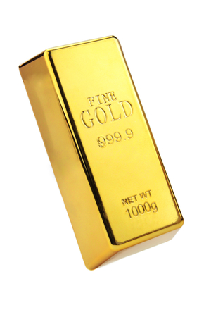 Gold bar op een witte achtergrond