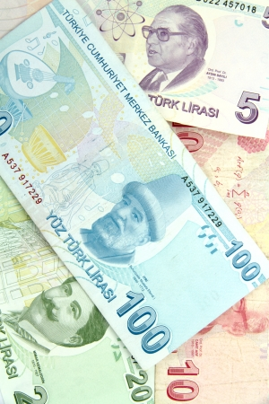 Turkish banknotes  Lira   TL    photo
