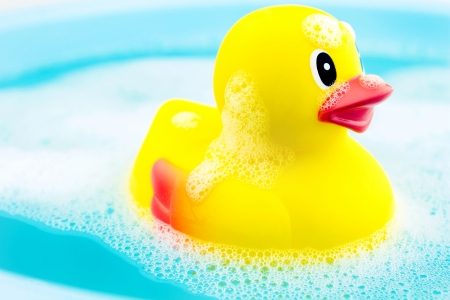 Bath time and rubber duck  写真素材