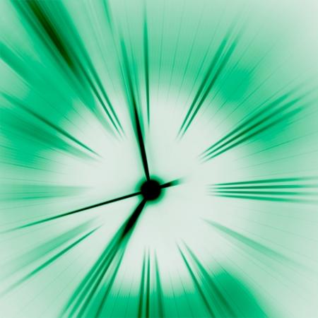 elapsed: Time- green Stock Photo