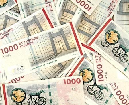 Scattered danish kroner